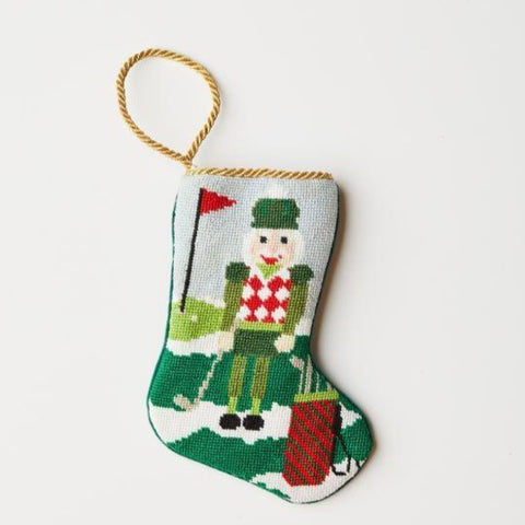 Bauble Stockings, Christmas Birdie Golfing Nutcracker