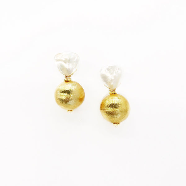Hazen & Co. Claire Earring, Gold