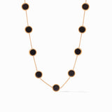 Julie Vos Coin Demi Station Necklace, Obsidian Black