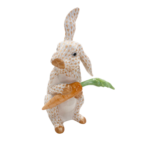 Herend Large Bunny with Carrot