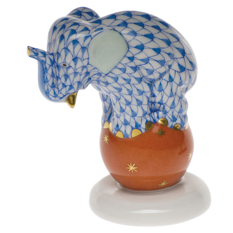 Herend Dancing Elephant, Blue