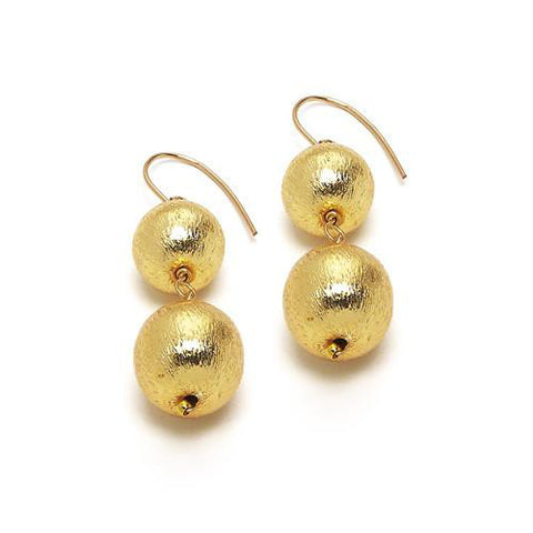 Hazen & Co. Dee Earring, Double Gold