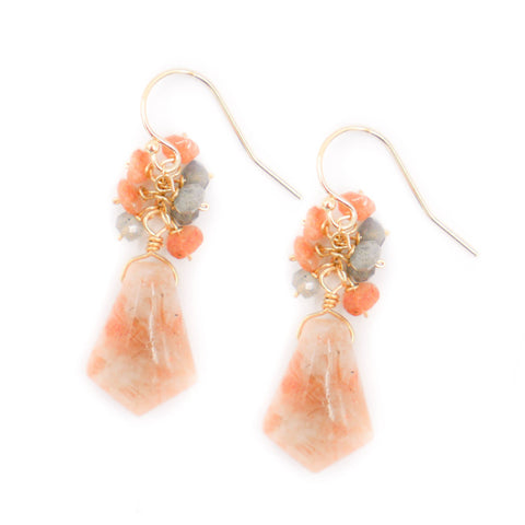 Hazen & Co. Denise Earring, Orange