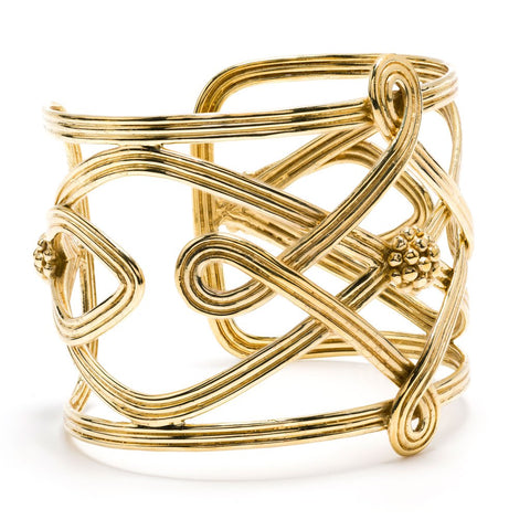 Capucine de Wulf Monique Compass Cuff, Gold