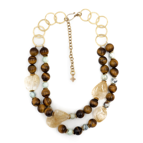 Hazen Estelle Necklace, Tigers Eye