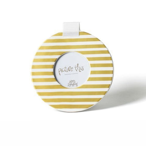 Happy Everything Gold Medium Stripe Mini Round Frame