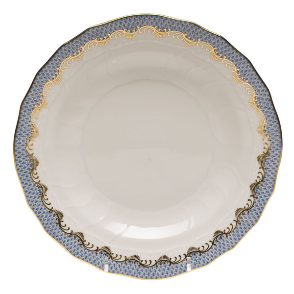 Herend Fish Scale, Blue Dessert Plate