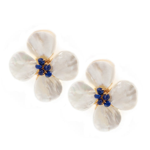Hazen & Co. Poppy Earring, Lapis