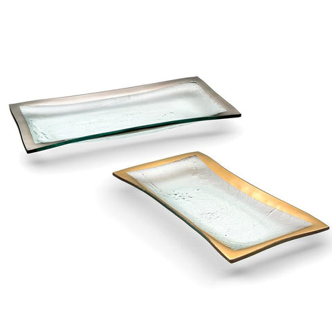 Annieglass Roman Antique Olive Tray