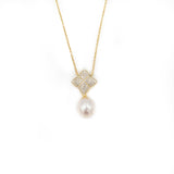 Hazen & Co. ALICIA NECKLACE, GOLD WITH FRESHWATER PEARL CHARM