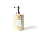 Happy Everything Gold Small Dot Mini Cylinder Soap Pump