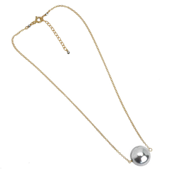 Hazen & Co. ABBIE NECKLACE, GRAY PEARL
