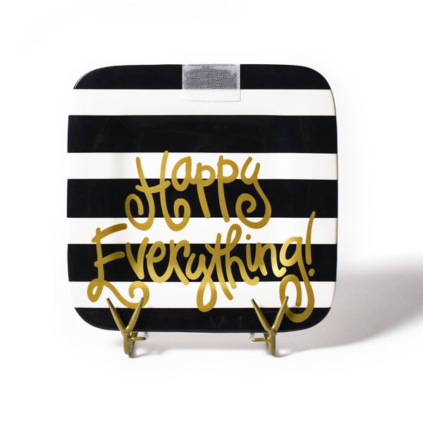 Happy Everything Black Stripe Mini Platter
