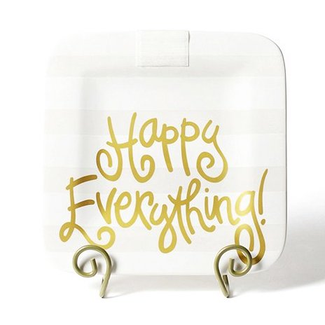 Happy Everything White Stripe Mini Happy Everything! Square Platter