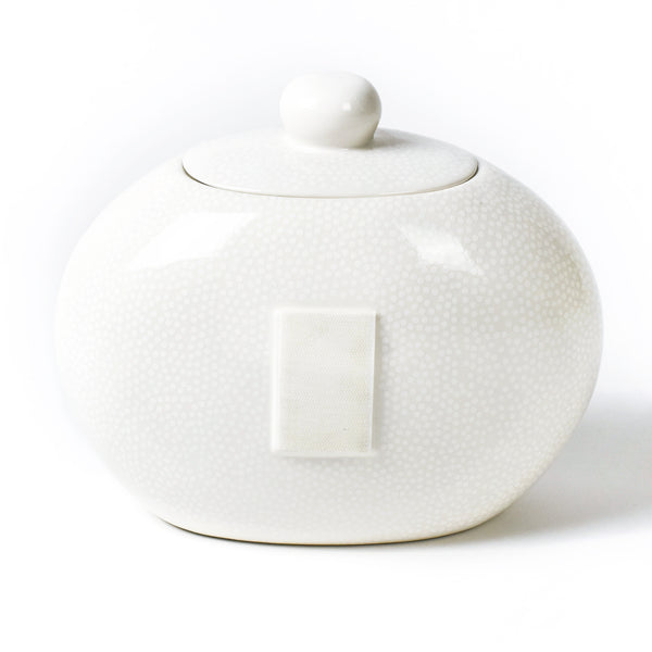 Happy Everything White Small Dot Big Cookie Jar