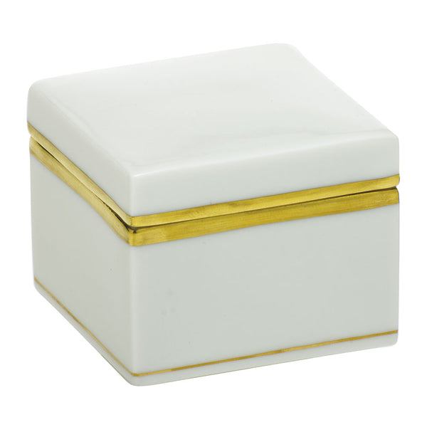 Herend White Square Box