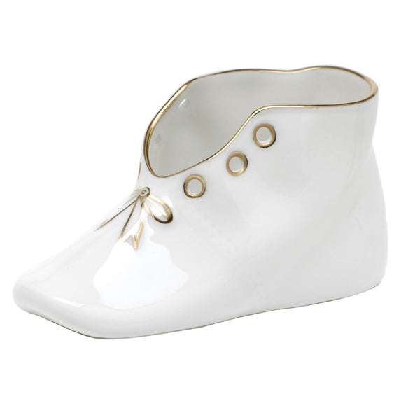 Herend Baby Shoe, Golden Edge