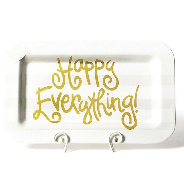 Happy Everything White Stripe Mini Happy Everything Rectangle Platter