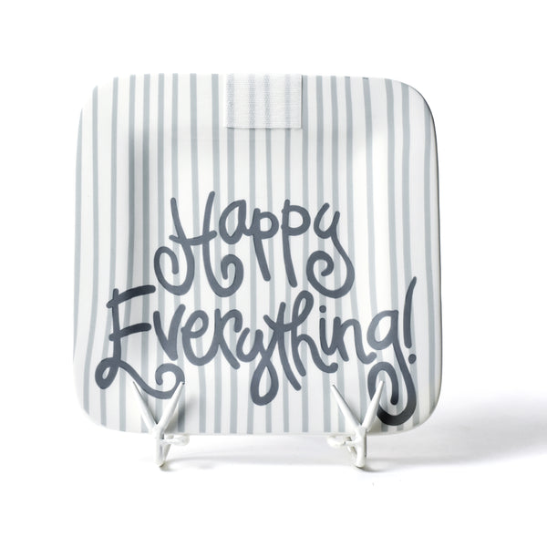Happy Everything Stone Skinny Stripe Happy Everything! Mini Platter