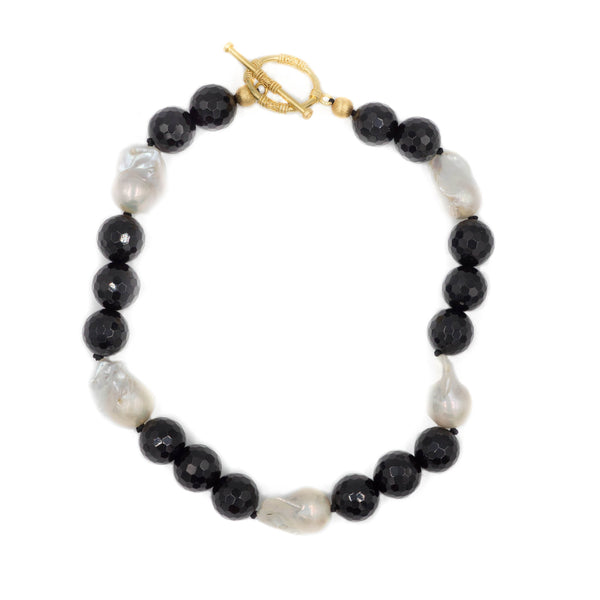 Hazen & Co. Annabelle Necklace, Black Onyx
