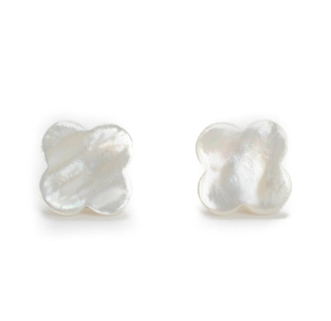 Hazen & Co. Hillary Earring, White