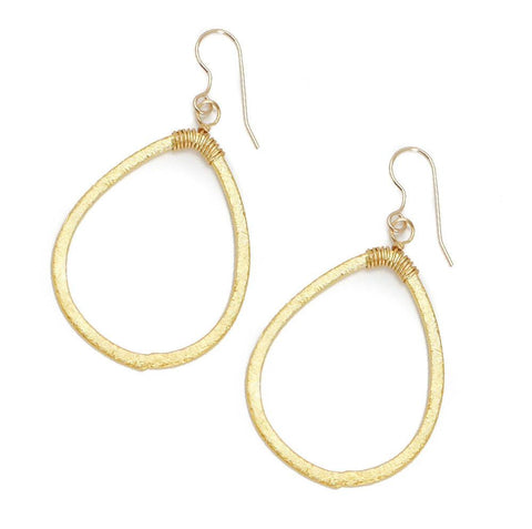 Hazen & Co. Larkin Earring, Gold