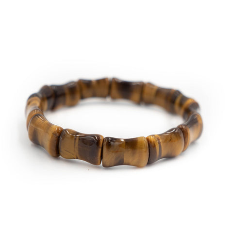 Hazen & Co. Bamboo Bangle, Tigers Eye