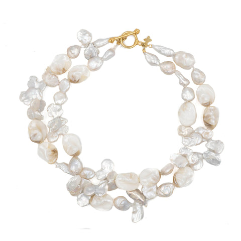Hazen & Co. Carolina Necklace, White