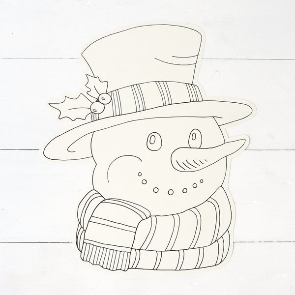 Coloring Snowman Paper Placemat Sheets