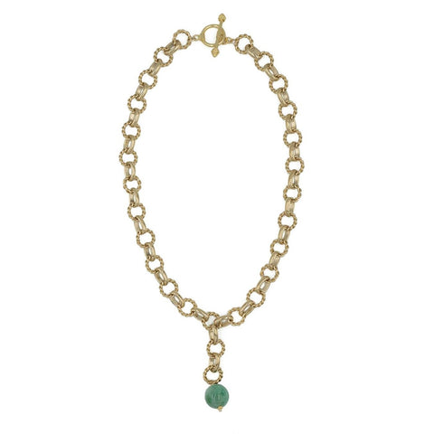 Hazen & Co. Holly Necklace, Green Jade