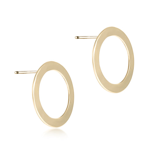enewton Basic Halo Stud, Gold