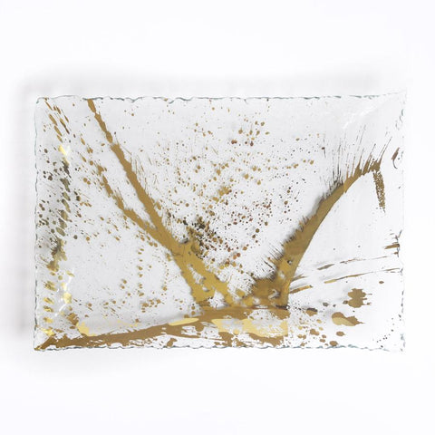 Annieglass Jaxson Martini Tray, Gold