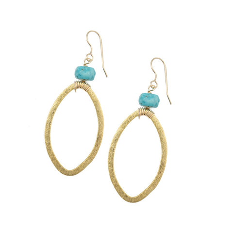 Hazen & Co. Lauren Earring, Turquoise