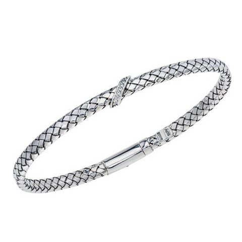 Alisa Diamond Bracelet with angled ornament