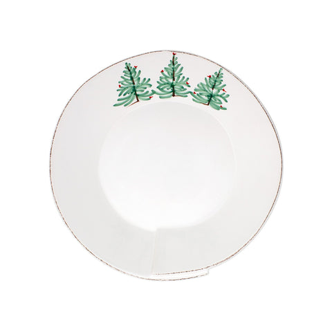 Vietri Lastra Holiday Medium Shallow Serving Bowl