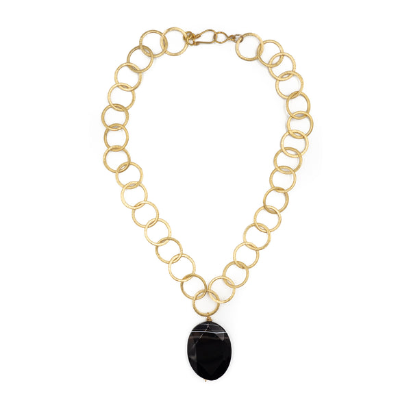 Hazen & Co. Leslie Necklace, Black Onyx