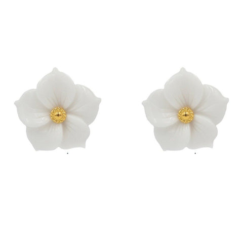 Hazen & Co. Lila Earring, White