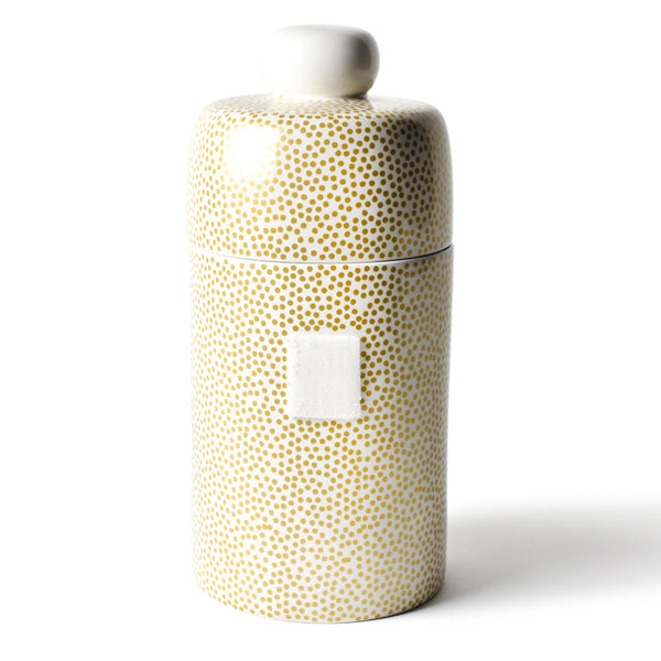 Happy Everything Gold Small Dot Mini Canister