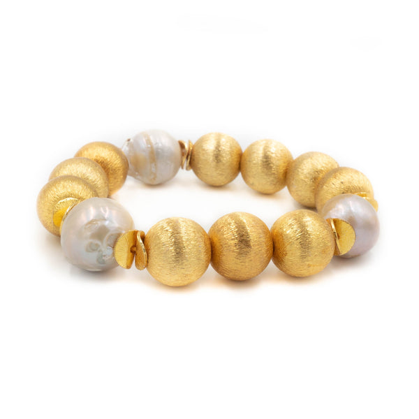 Hazen & Co. Madison Bracelet, White Pearl