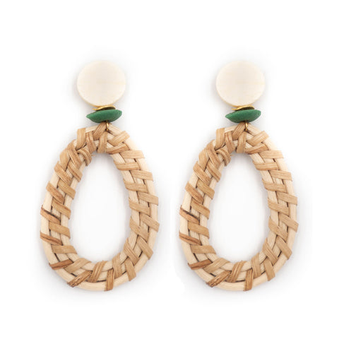 Hazen & Co. McCarthy Earrings, Green