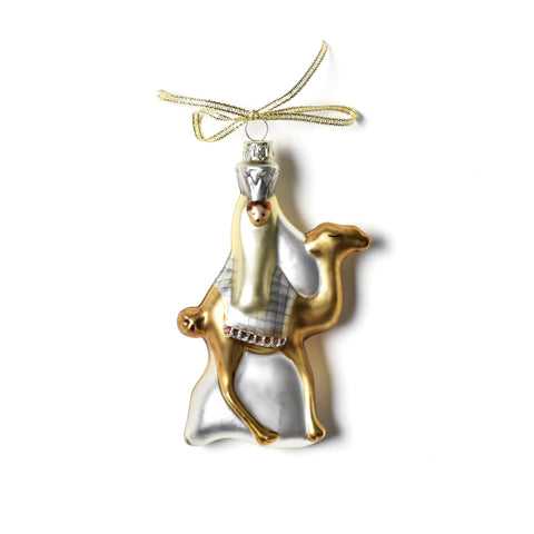 Coton Colors Neutral Nativity Wisemen 1 Glass Ornament