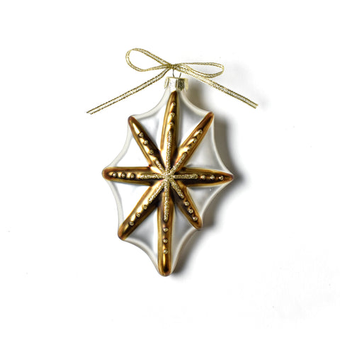 Coton Colors Neutral Nativity Gold Star Glass Ornament