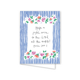 "Dixie Design Collective ""Floral Stripe"" Card"