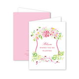 "Dixie Design Collective ""Bloom Where You're Planted"" Card"