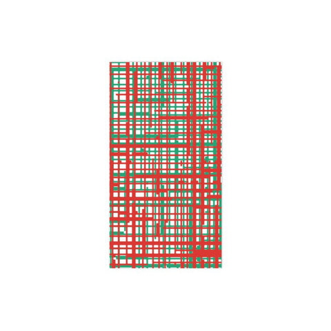 Papersoft Napkin Plaid Green & Red Guest Towel (Pack 20)