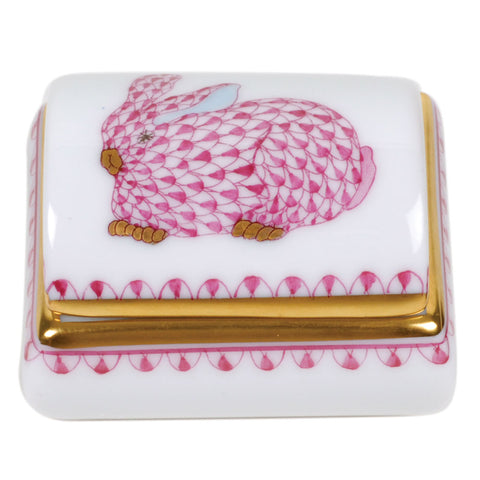 Herend Tooth Fairy Box, Pink Bunny