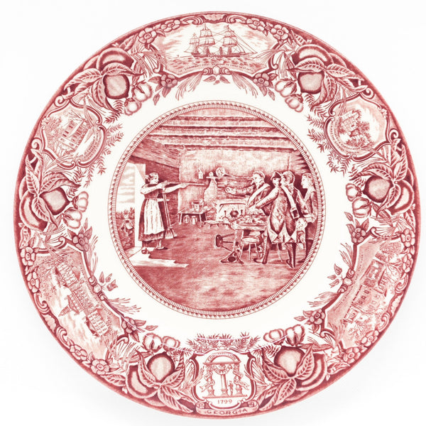 Georgia Plate Pink #7 - Nancy Hart Capturing the Tories