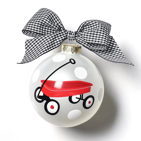 Coton Colors Limited Edition 2019 St. Jude Red Wagon Glass Ornament