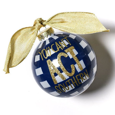 Coton Colors Born Southern Glass Ornament