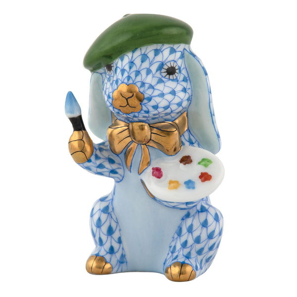 Herend Painter Bunny, Blue
